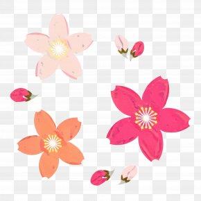 Wildflower Plant - Pink Flower Cartoon PNG