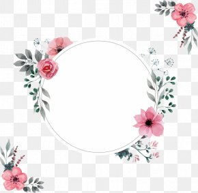 Picture Frame Plant - Watercolor Flowers Frame PNG