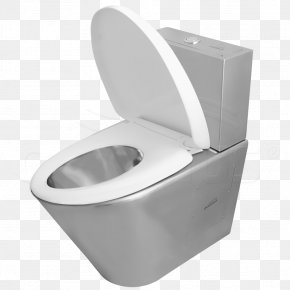 Toilet - Flush Toilet Plumbing Fixture Stainless Steel PNG