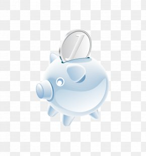 Piggy Bank Animal Coin Vector - Domestic Pig Piggy Bank Coin PNG