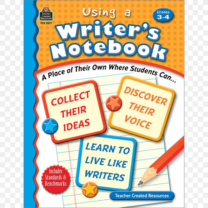 Using A Writer's Notebook: A Place Of Their Own Where Students Can... Using A Writer's Notebook, Grades 3-4 Product Font Cuisine, PNG, 900x900px, Cuisine, Area, Recreation, Text, Text Messaging Download Free