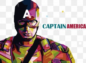Captain America COLORFUL Avatar - Captain America Iron Man PNG