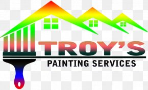 Paint Service - Painting House Painter And Decorator Logo Wall PNG