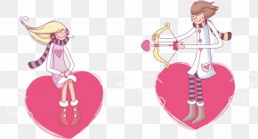 Cartoon Couple - Saint Valentines Day Massacre February 14 Heart Wallpaper PNG