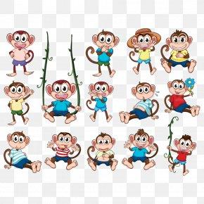Monkey - Monkey Cartoon Illustration PNG