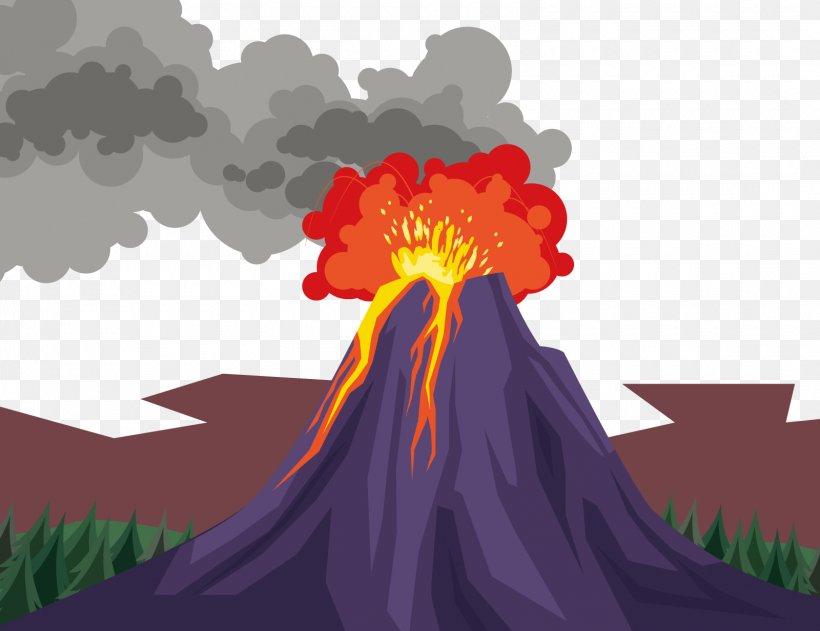 Volcano Euclidean Vector Xc9ruption Volcanique, PNG, 1600x1232px, Volcano, Art, Cartoon, Dia, Ejecta Download Free