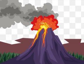 Vector Volcano Eruption - Volcano Euclidean Vector Xc9ruption Volcanique PNG