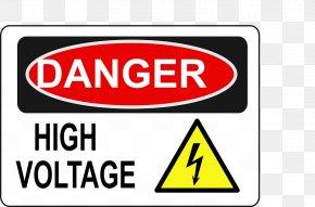 High Voltage - Danger! High Voltage Clip Art PNG