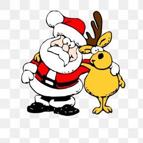 Santa Claus And Reindeer - Santa Claus Christmas Reindeer Clip Art PNG