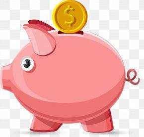 Pig - Domestic Pig Piggy Bank Clip Art PNG