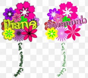 Mothers Day Calligraphy - Floral Design Cut Flowers Mothers Day Bouquet Flower Bouquet PNG