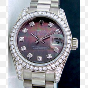 Rolex - Rolex Lady-Datejust Watch Colored Gold PNG