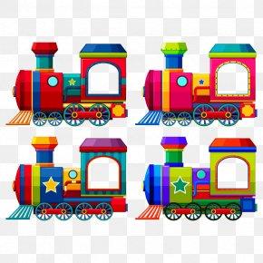 Vector Toy Train - Train Rail Transport Passenger Car Locomotive PNG
