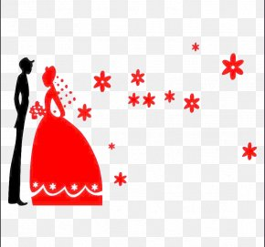 Red Wedding Pictures - Wedding Wall Decorative Arts Room PNG