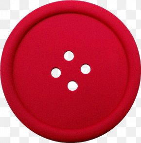 Clothes Button - Red Circle PNG