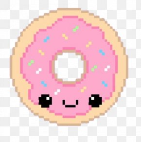 Pixelated Cartoon Donut - National Doughnut Day Tea Dunkin Donuts PNG