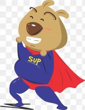 Cartoon Dog Superman - Superman Dog Cartoon Illustration PNG