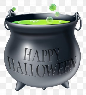 Happy Halloween Witch Cauldron Clipart Picture - Cauldron Halloween Confectionery Trick-or-treating Party PNG