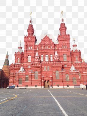 Russia Red Square Building - Moscow Kremlin Lenins Mausoleum Red Square State Historical Museum Saint Basils Cathedral PNG