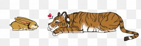 Tigers Nut - Tiger Lion Cat Rabbit Fan Art PNG