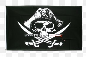 Pirate - Jolly Roger Flag Edward Teach Piracy Skull And Crossbones PNG