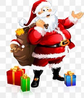 Cartoon Christmas Santa Claus Pattern - Santa Claus Village Festival Of Lights Christmas Gift PNG