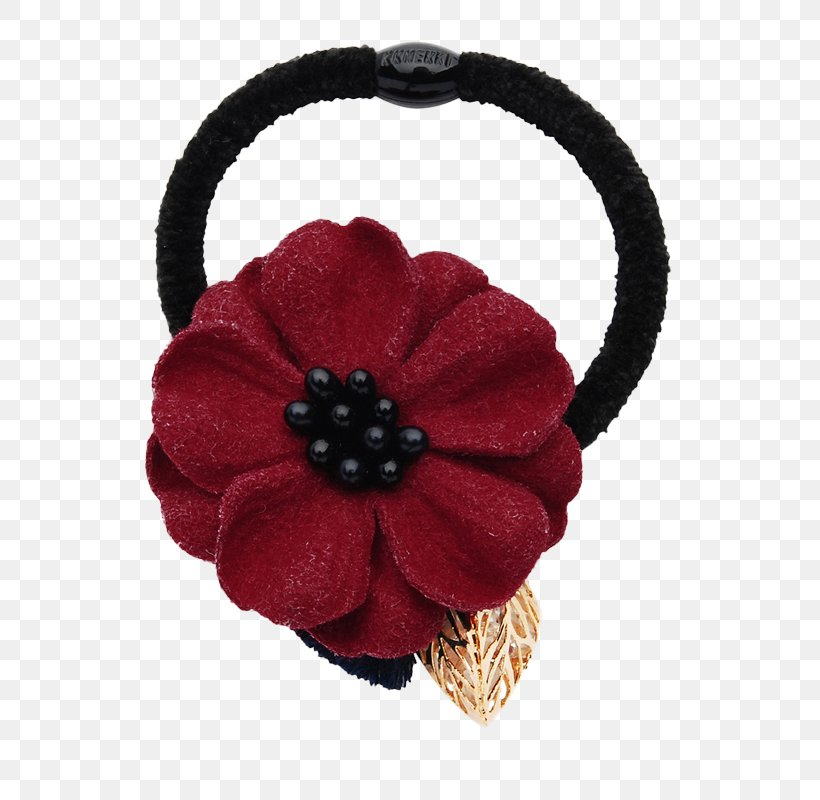 Hair Tie Barrette Red Rubber Band Png 800x800px Watercolor