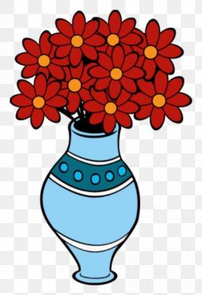 Vase Flowers - Floral Design Flowerpot Vase Drawing Clip Art PNG