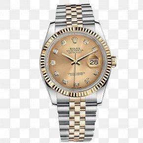 Rolex Watch Watches Gold Men's Watch - Rolex Datejust Watch Strap Watch Strap Dial PNG
