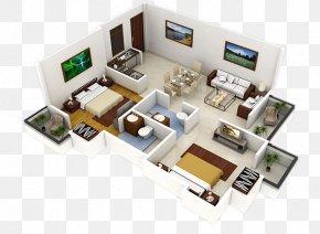 House - 3D Floor Plan Interior Design Services House Plan PNG