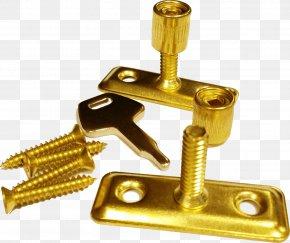Brass - Casement Window Lock Brass Casement Stay PNG