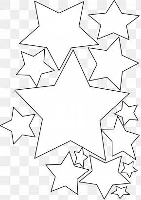 Black Stars Clipart - Black And White Line Art Star Of Bethlehem Clip Art PNG