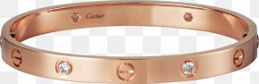 Love Bracelet - Love Bracelet Cartier Gold Diamond PNG