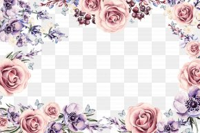 Colorful Floral Border - Flower Picture Frame Download PNG