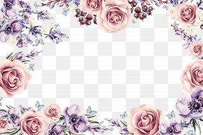 Colorful Floral Border - Flower Picture Frame Download PNG