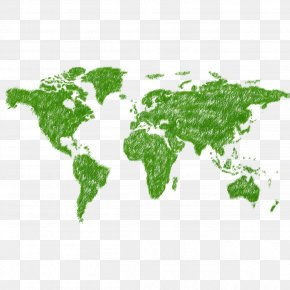 World Map - Globe World Map United States India PNG