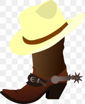 Cowboy Cartoon Cliparts - Hat N Boots Cowboy Boot Clip Art PNG