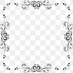 Design - Borders And Frames Floral Design Clip Art PNG