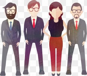 Hand Drawn Business People - Euclidean Vector PNG