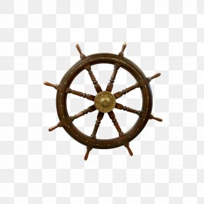 Steering Wheel - Ship's Wheel Spoke Steering Wheel PNG
