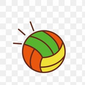 Beach Volleyball - Beach Volleyball Cartoon Clip Art PNG