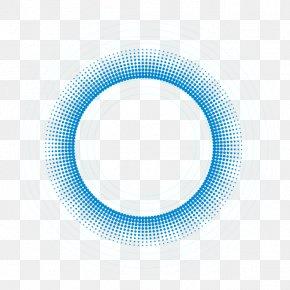 Circle Border - Blue Circle Pattern PNG