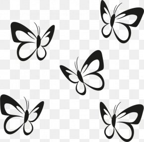 Rollups - Butterfly Wall Decal Sticker Paper Partition Wall PNG