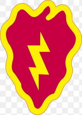 Printable Lightning Bolt - United States Army 25th Infantry Division Brigade Combat Team PNG