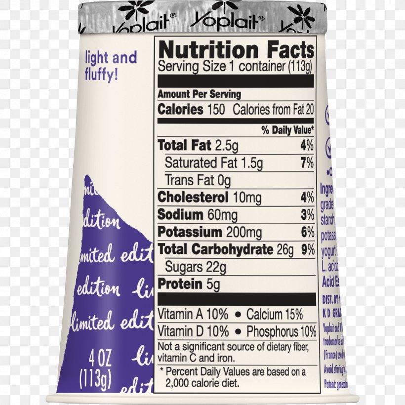 Nutrition Facts Label Yoplait Low-fat