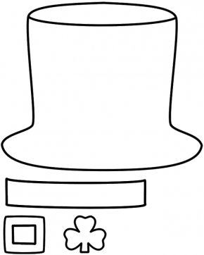 Leprechaun Hat - Paper Leprechaun Hat Saint Patricks Day Clip Art PNG