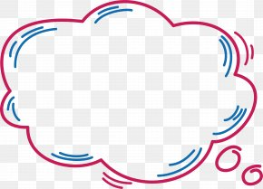Pink Cloud Dialog Box - Dialog Box Dialogue Clip Art PNG