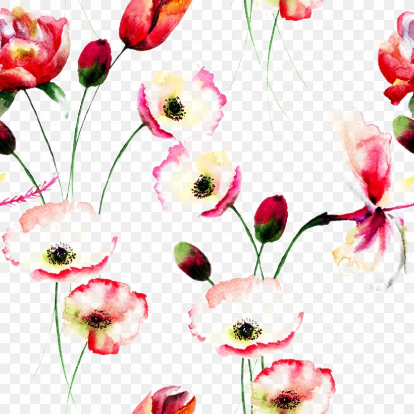 Poppy Flowers Watercolor Painting Floral Design, PNG, 1100x1100px, Watercolor Flowers, Art, Artificial Flower, Blossom, Cut Flowers Download Free