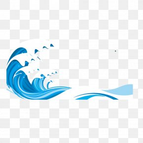 Blue Vector Sea Pattern PNG