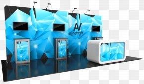 Exhibtion Stand - Trade Show Display Modular Design Computer Monitors PNG